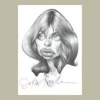 Nastassja Kinski: Autogaph on Photo + Autograph Beek on Kinski Portrait
