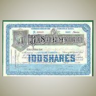 1918: Pan State Gas Company, 100 Shares