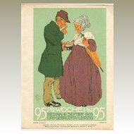 "1909: Erich Gruner: "" The Weekly "" Advertising Print for German Magazine"