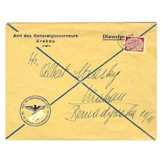 W.W.II: 1941. General Government in Poland. Letter 24 Groschen