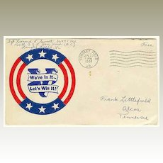 1944 Patriotic Cover from with Victory Slogan