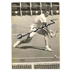 Celebrity Tennis Player Tony Trabert Autograph. CoA
