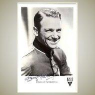 Fine Douglas Fairbanks Jr. Autograph. Photo Postcard. CoA