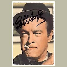 1988: Bob Hope Autograph on Photo Print. CoA