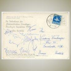 1959: Austrian Mountaineering - Himalaya Expedition. Fritz Moravetz Signature