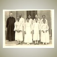 1939: b/w Photo Korea. Baptized Women and Men.