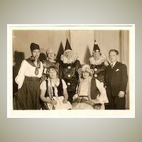 Art Deco Photo of Carnival Group, 7 x 5. Studio Photo
