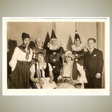 Art Deco Photo of Carnival Group, 7 x 5. Studio Photo