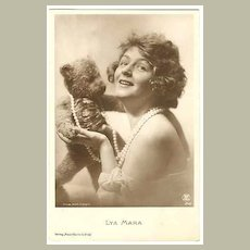 Movie Star Lya Mara with Teddy Bear c. 1920