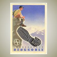 Ca. 1950: Advertising Postcard for Semperit Tracking Shoes