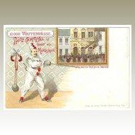 Attractive, scarce, unusual Carnival Postcard from c. 1910