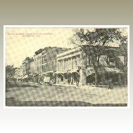 Davis Street from Chicago Street, Evanston ILL.: Nice vintage Postcard