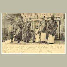 1900: Hagenbeck Indian Show. Vintage Postcard