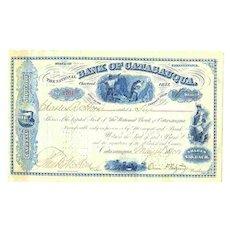 1901: Bank of Catasauqua. Decorative old Share