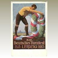 German Gymnastics Festival, Leipzig 1913. Artist signed