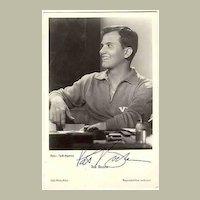 Pat Boone Autograph: Early UFA Film Photo. CoA