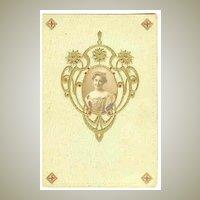 Attractive, embossed Art Nouveau Postcard