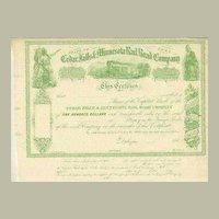 1860s: Cedar Falls & Minnesota Rail Road Company
