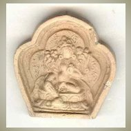 Old China – Liao Dynasty: Buddhist Token from Grotto, blazed Clay