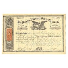 The Peoples National Bank of Waterville: Civil War Era Share, 1867