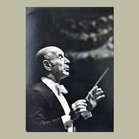 Conductor Erich Leinsdorf Autograph, 1978, Wien