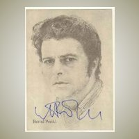 Bernd Weikl Autograph: Signed Portrait Postcard, CoA