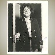 Joe Cocker: Very early Autograph: 8 x 10. CoA