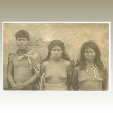 Vintage Photo Postcard South American Indians, ca. 1918