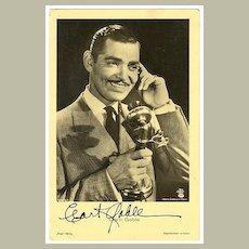 Clark Gable Autograph: Early Signature on Ross Photo. CoA