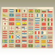 1898: International Flags: Chromo Lithograph