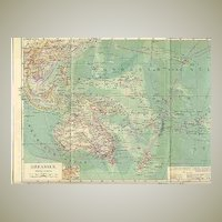 1900: Oceania. Old Map