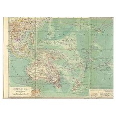 Antique Map Oceania from 1900