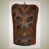 Old Mask: 7 x 11 x 4. Wood, Varnish