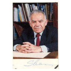 Yitzhak Shamir Autograph: Signed Photo. CoA