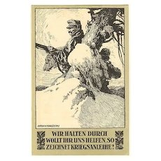 WWI: Advertising Postcard for War Bonds. Litho by Karlinsky. 1918