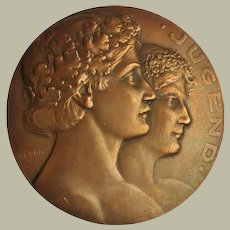 Art Nouveau Bronze: Youth. Josef Prinz. ca 1907