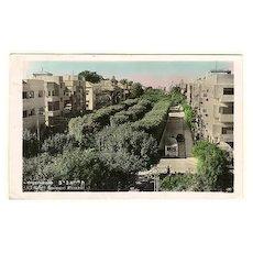 Old Israel, Tel-Aviv: Censored Postcard to Austria