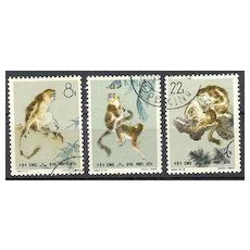 Peoples Republic of China Stamps: Gold Haired Monkeys. CTO