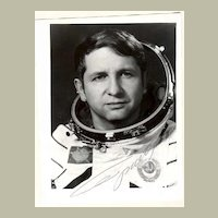 Yuri Glazkov, Soviet Cosmonaut. Autograph on Photo. CoA
