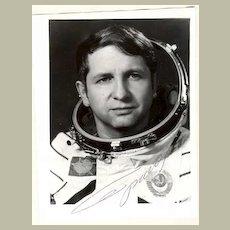 Yuri Glazkov, Soviet Cosmonaut. Autograph on Photo. CoA
