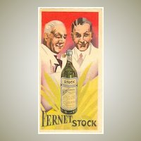 Fernet: Advertising Label from ca. 1910