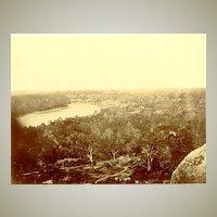ca. 1888: Authentic larger Albumen Photo of a Village in Saigon