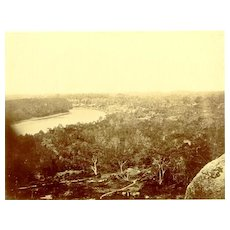 Authentic larger Albumen Photo of a Village in Saigon Late 19.Ct