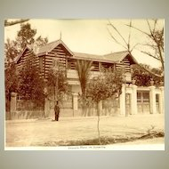 1891: Egypt - Ismailia: Ferdinand de Lesep's House. Albumen Photo