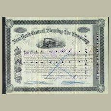 188O: New York Central Sleeping Car Company - old share