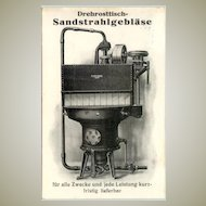 1922: Image of old Sander on b/w advertising post card