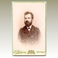 Old Cabinet photo of a Rairoadman in Uniform