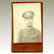 appr. 1910: Cabinet photo of a police man in Uniform.