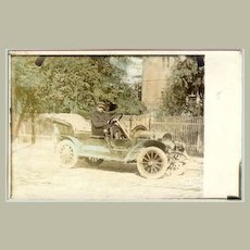 1900: Tinted Photo of an Old-timer and Driver