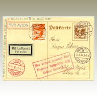 1932: Austrian First Flight Wien - Prag - Dresden - Berlin
